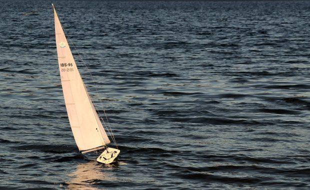 Pink Sailing Boat